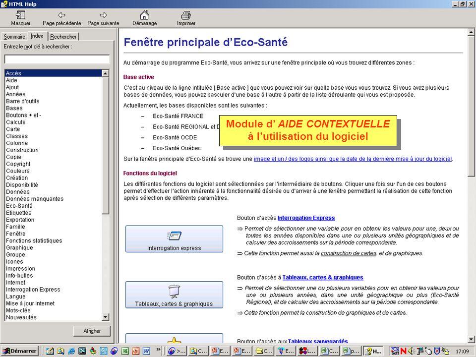 Module d AIDE CONTEXTUELLE à lutilisation du logiciel
