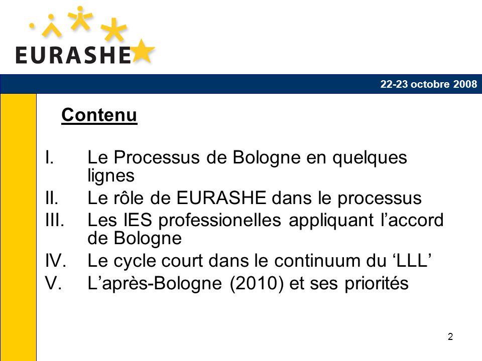 2 Contenu I.Le Processus de Bologne en quelques lignes II.