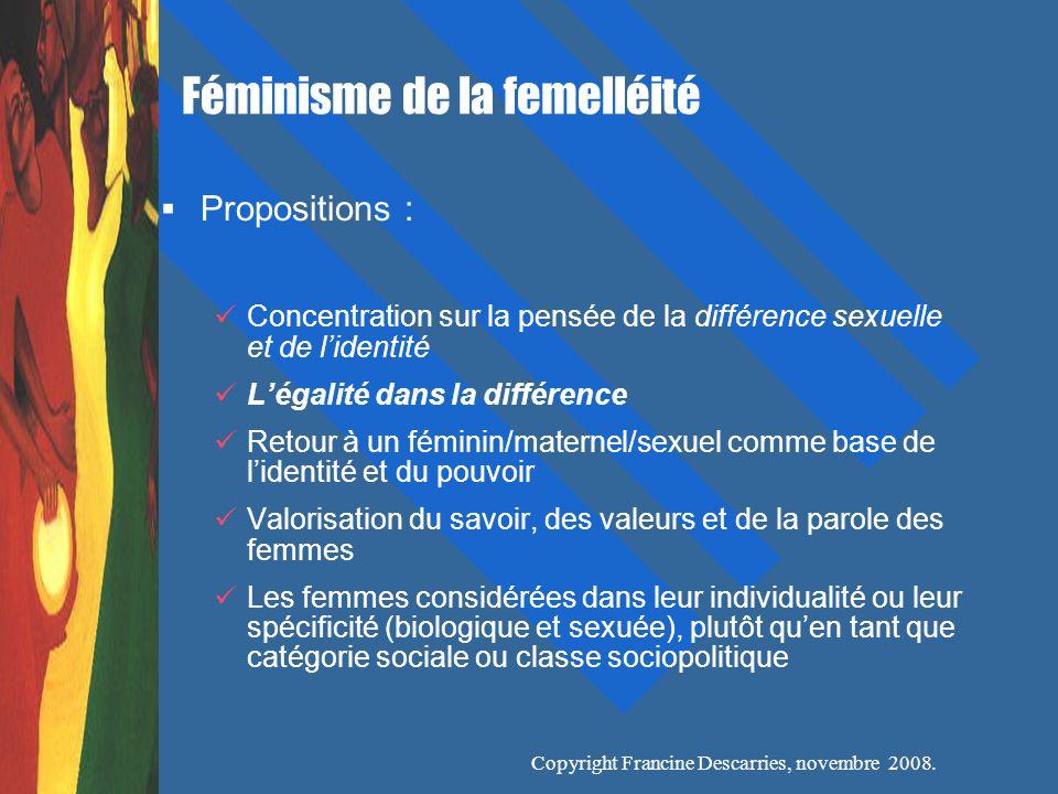 Copyright Francine Descarries, novembre 2008.