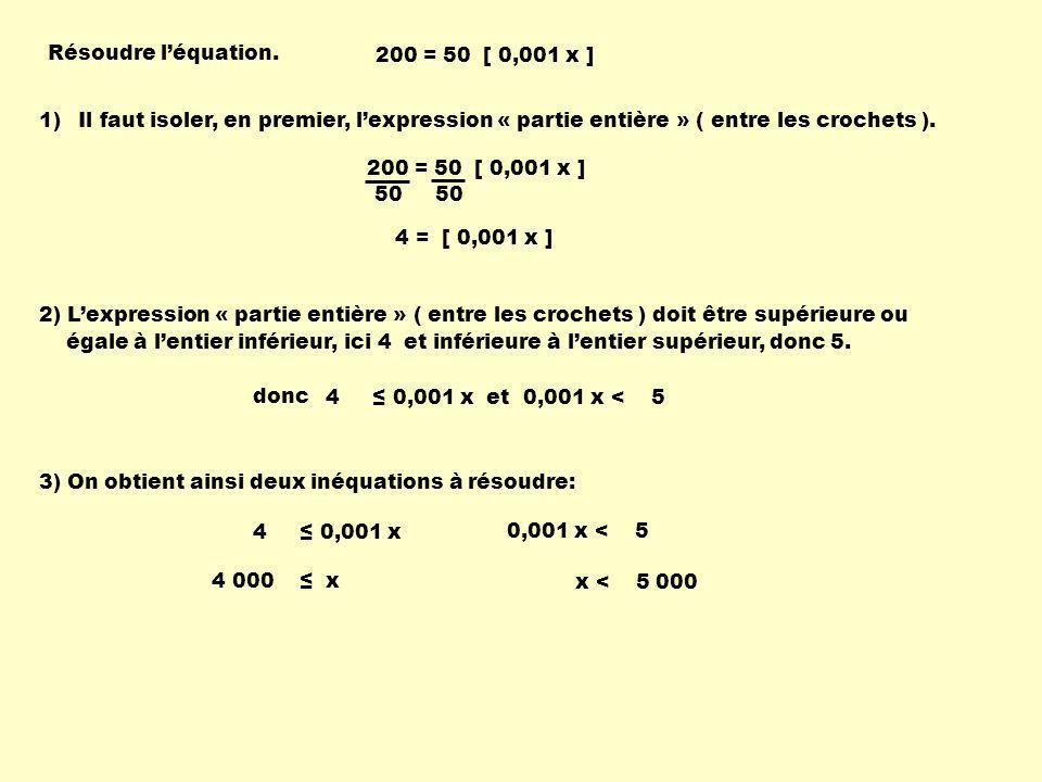 Résoudre léquation.