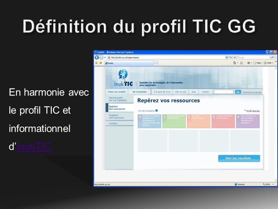 En harmonie avec le profil TIC et informationnel dInukTICInukTIC