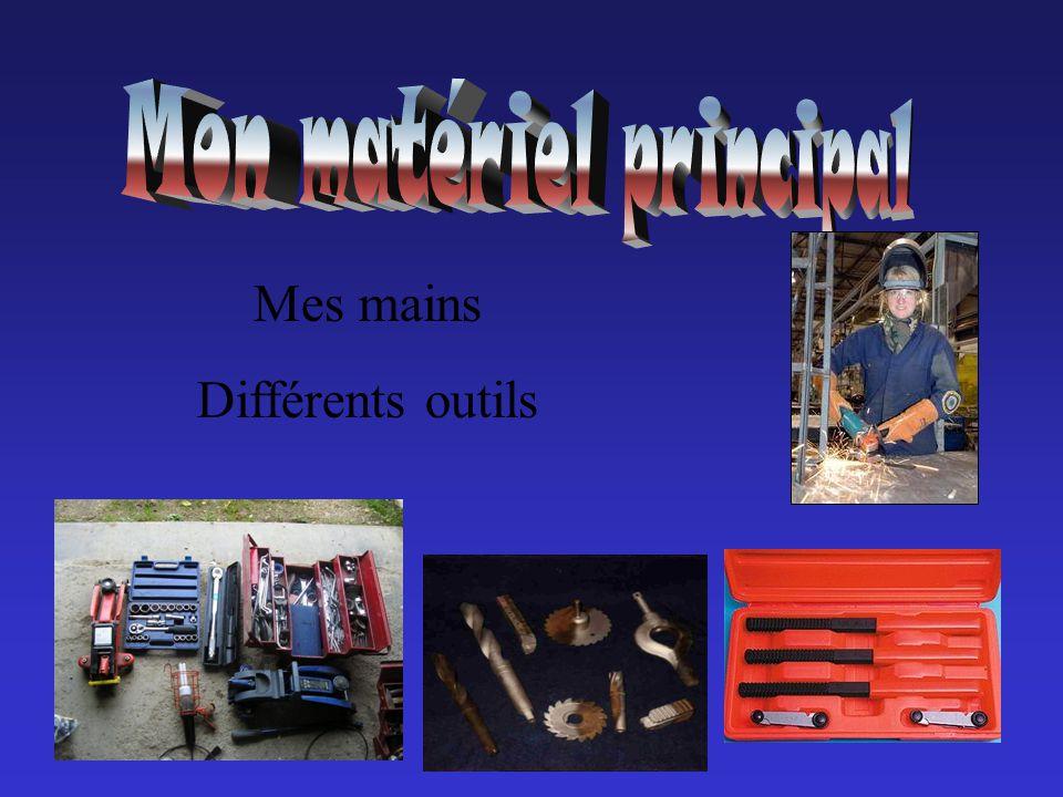 Mes mains Différents outils