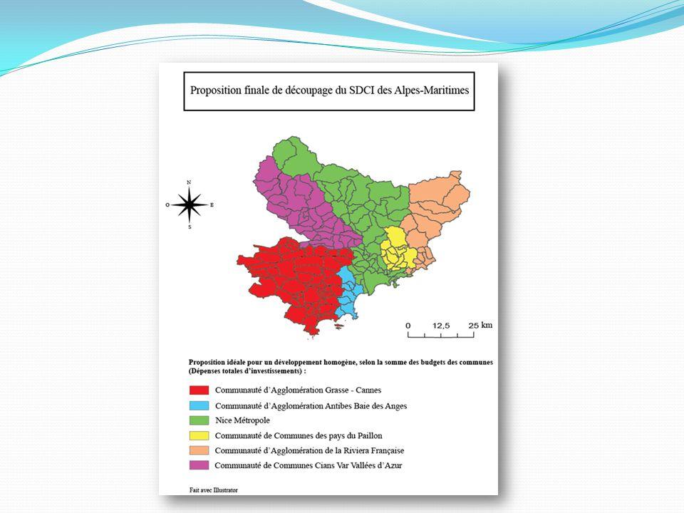 Conclusion : Proposition de découpage ressemblante au SDCI 06 Favorise le rééquilibrage Nord/Sud Proposition appuyée par des logiques et des arguments de nature différente