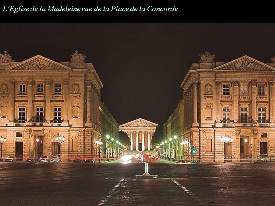 LEglise de la Madeleine vue de la Place de la Concorde