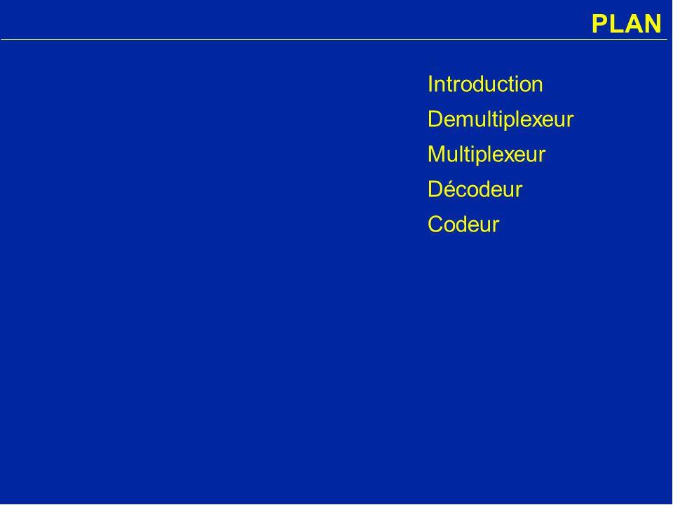 PLAN Introduction Demultiplexeur Multiplexeur Décodeur Codeur