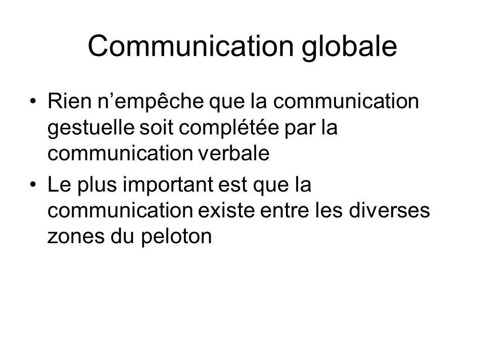 Communication globale Rien nempêche que la communication gestuelle soit complétée par la communication verbale Le plus important est que la communicat