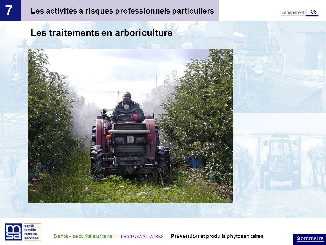 Sommaire Santé - sécurité au travail > PHYTOSANITAIRES Prévention et produits phytosanitaires Les activités à risques professionnels particuliers 7 08