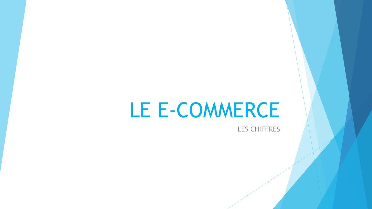 LE E-COMMERCE LES CHIFFRES