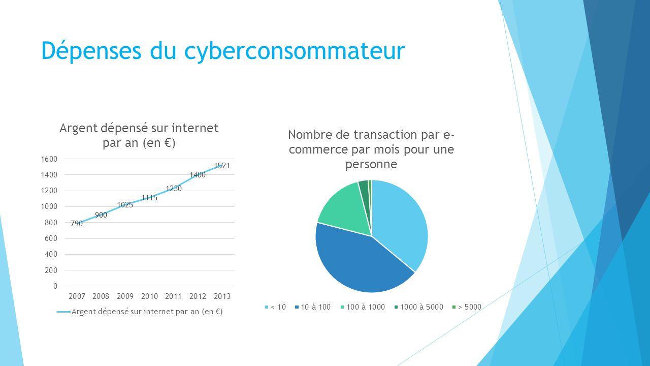 Dépenses du cyberconsommateur
