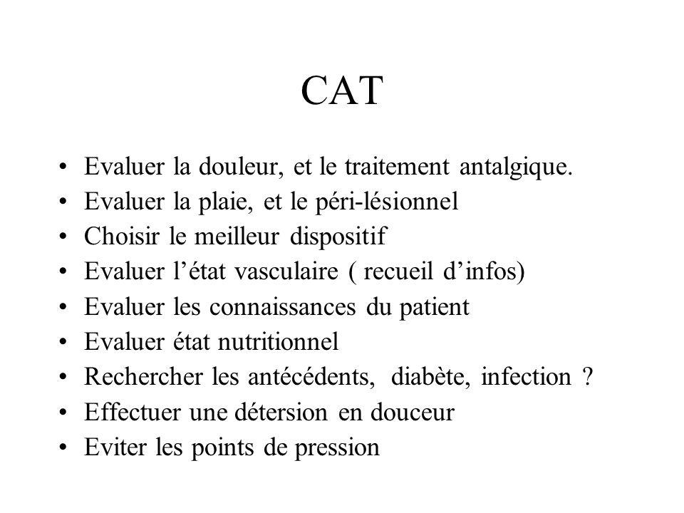 CAT Evaluer la douleur, et le traitement antalgique.