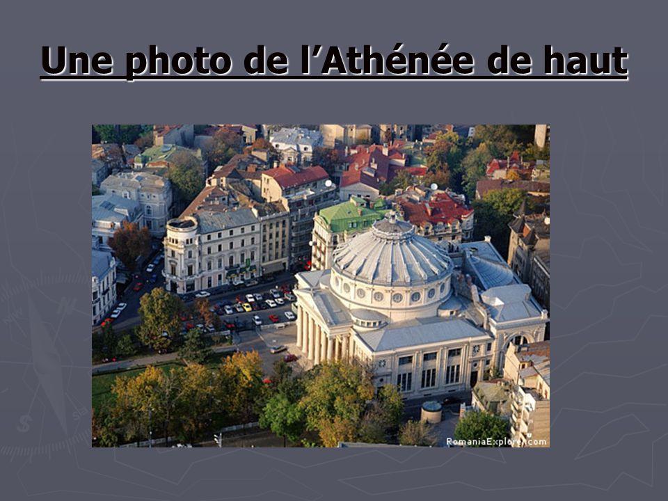 Une photo de lAthénée de haut