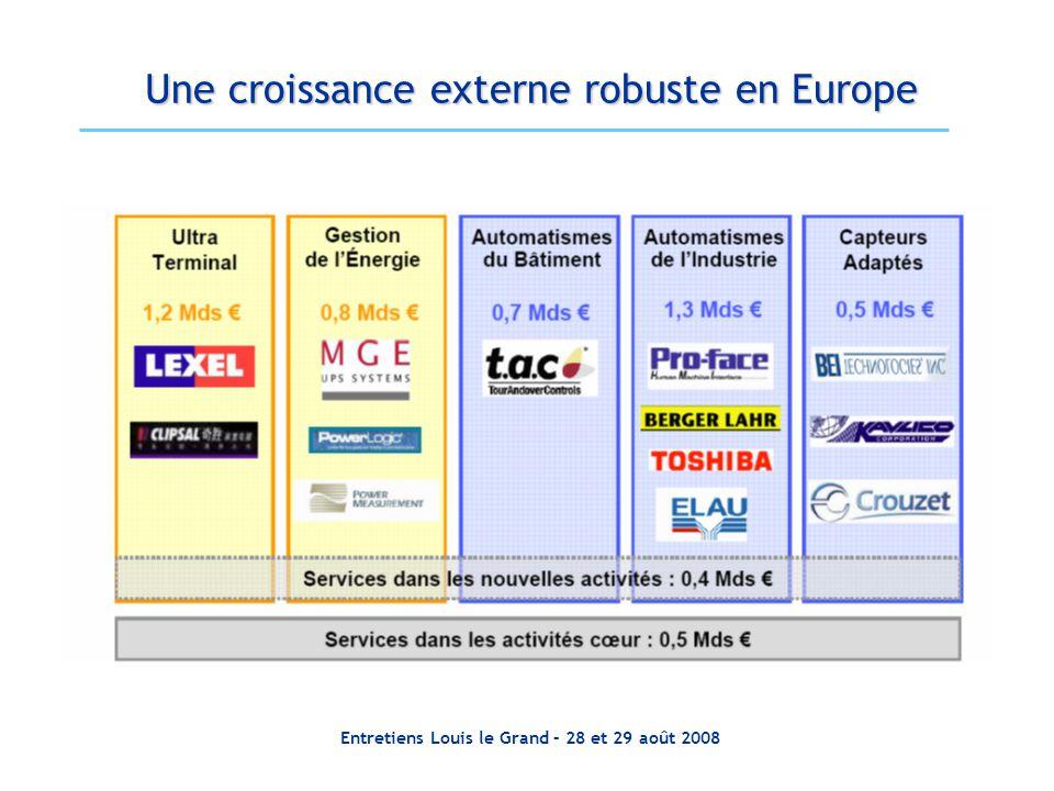 Entretiens Louis le Grand – 28 et 29 août 2008 Une croissance externe robuste en Europe