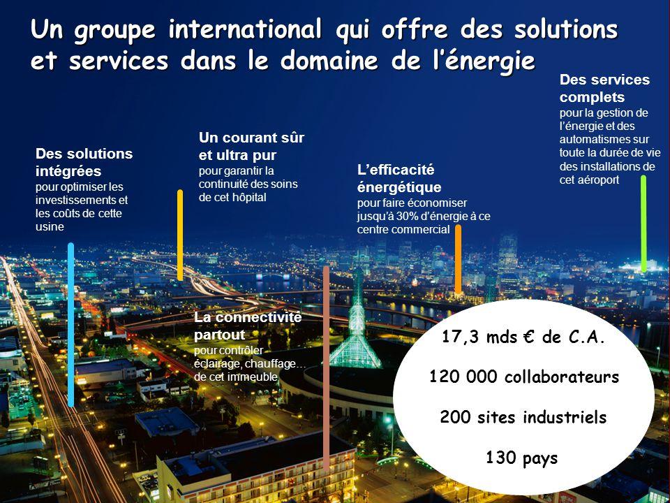 Entretiens Louis le Grand 2006 Un groupe international qui offre des solutions et services dans le domaine de lénergie Un courant sûr et ultra pur pou