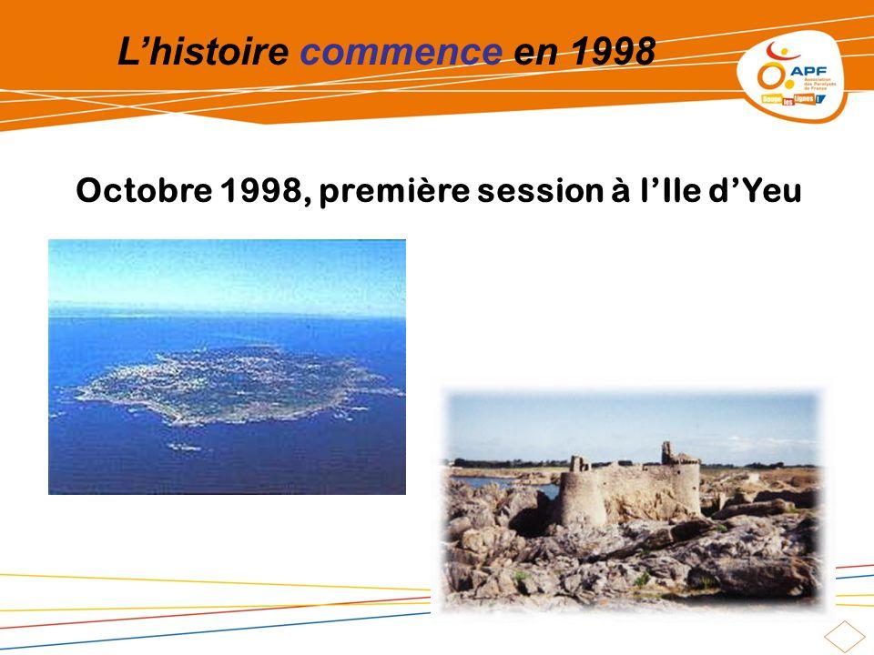 Lhistoire commence en 1998 Octobre 1998, première session à lIle dYeu