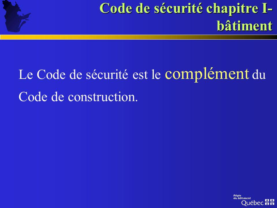 Code de sécurité (Prévention incendie)