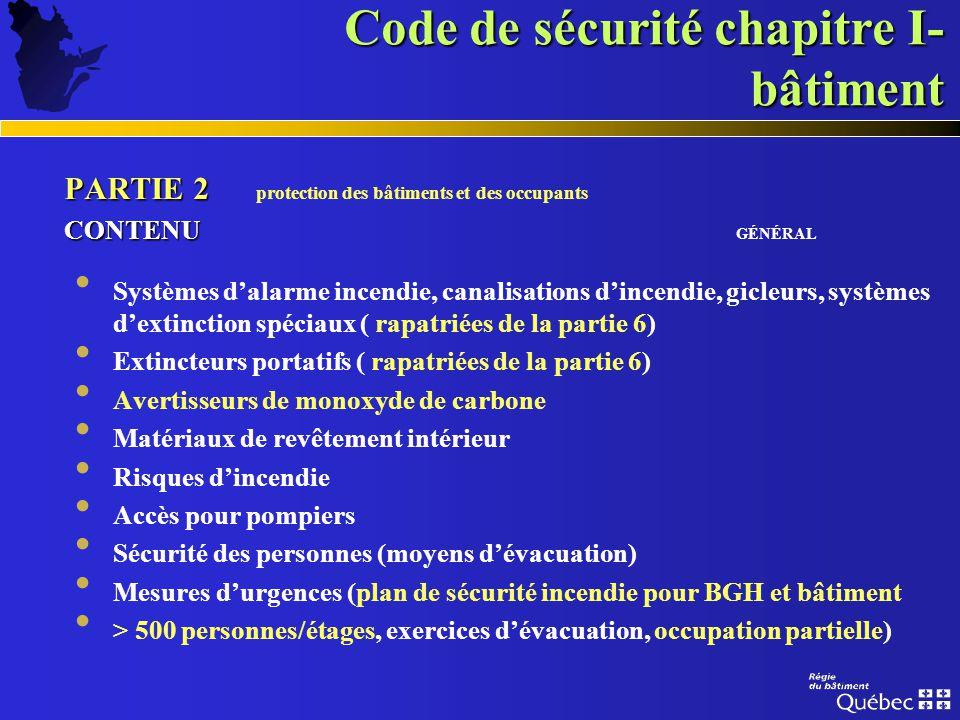 PARTIE 1 PARTIE 1 généralités CONTENU CONTENU GÉNÉRAL définitions normes de références exigences administratives registres