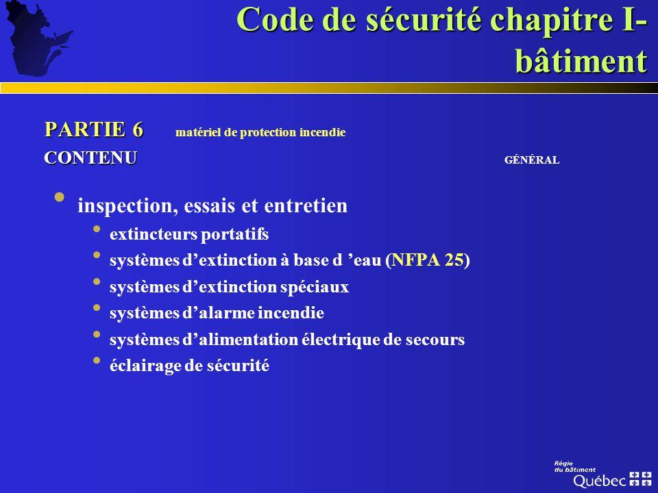 Code de sécurité chapitre I- bâtiment PARTIE 5 PARTIE 5 procédés et opérations dangereux CONTENU CONTENU CSST généralités (PIÈCES PYROTECHNIQUES) trav