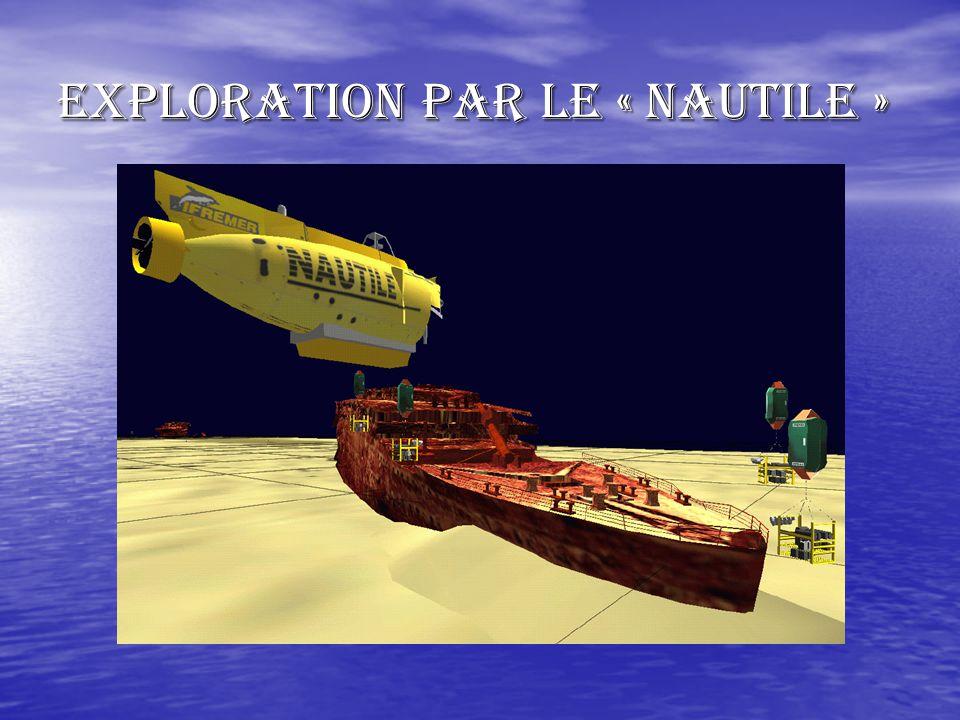 A la recherche du « TITANIC » Lépave du « TITANIC » a été retrouvée en 1985 par des Français et des Américains. Elle repose à 3800m de fond. Elle a ét