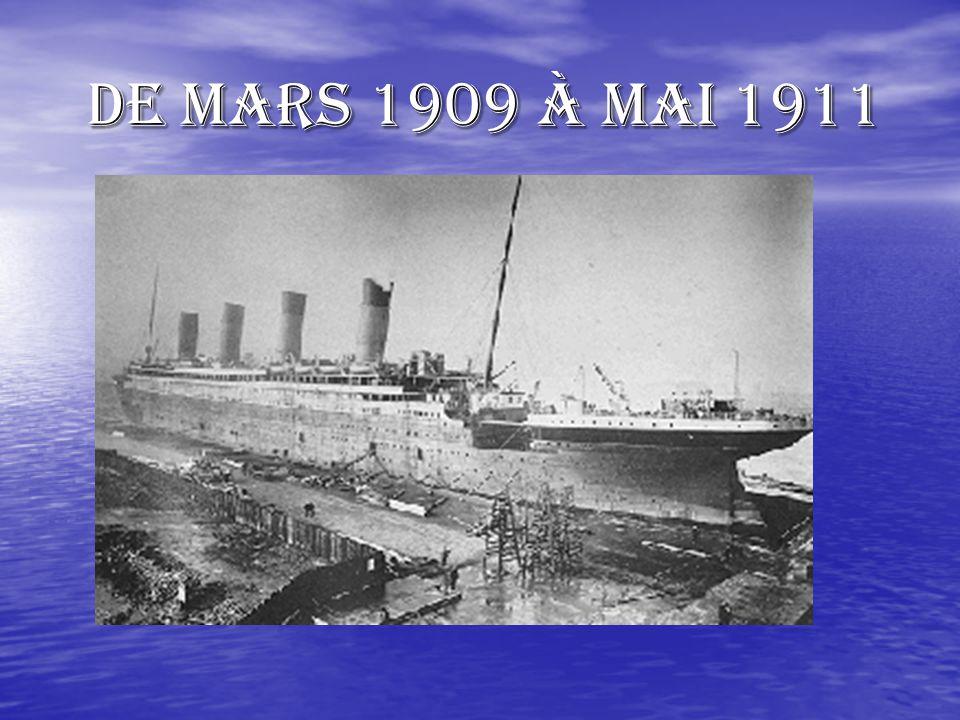 de Mars 1909 à Mai 1911