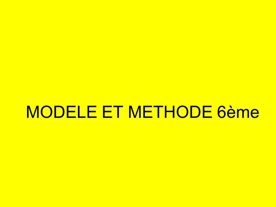 MODELE ET METHODE 6ème