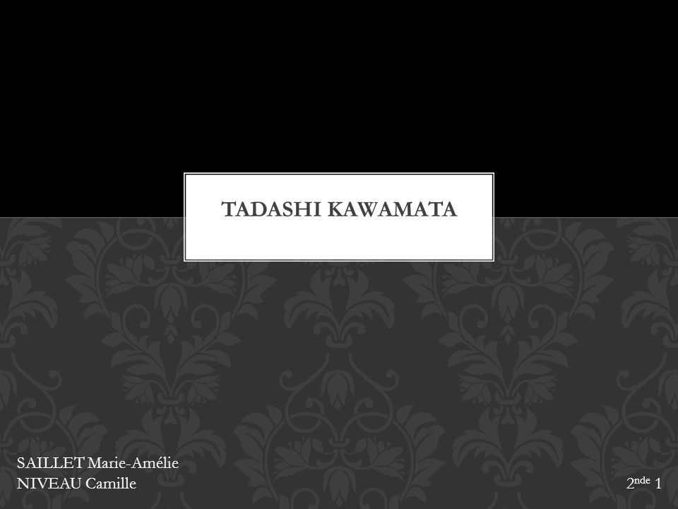 Tadashi KAWAMATA