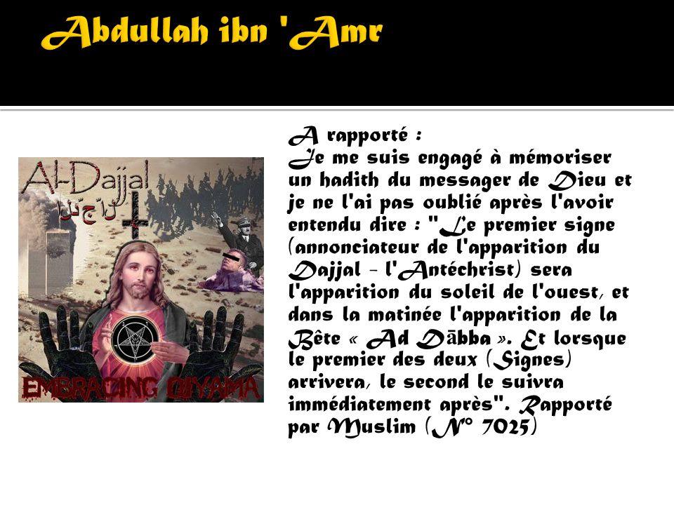 « Ad Dabba » (la Bête) ou « Ad D ā bbat ul Ardh » (la Bête de la Terre) dans un verset de la sourate Les fourmis : « Et quand la Parole tombera sur eu