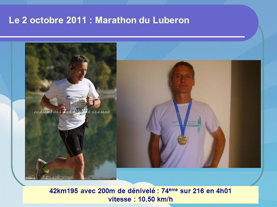 Le 11 septembre 2011 : La cité des Papes Avignon 10km FFA : 178 ème sur 541 en 45mn19 vitesse : 13.24 km/h