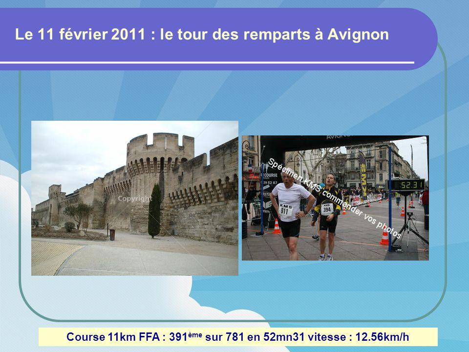 Ma 1 ère course : le 23 janvier 2011 à Mornas (vaucluse) Trial de 11,5 km 300m de dénivelé : 212 ème sur 335 en 1h04