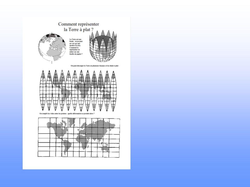 On peut aussi représenter la Terre sur une carte appelée… UN PLANISPHERE…