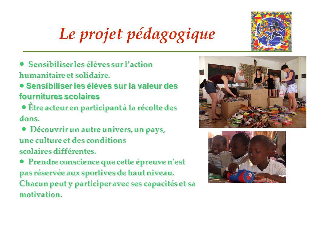 Le projet pédagogique Sensibiliser les élèves sur laction humanitaire et solidaire. Sensibiliser les élèves sur laction humanitaire et solidaire. Sens