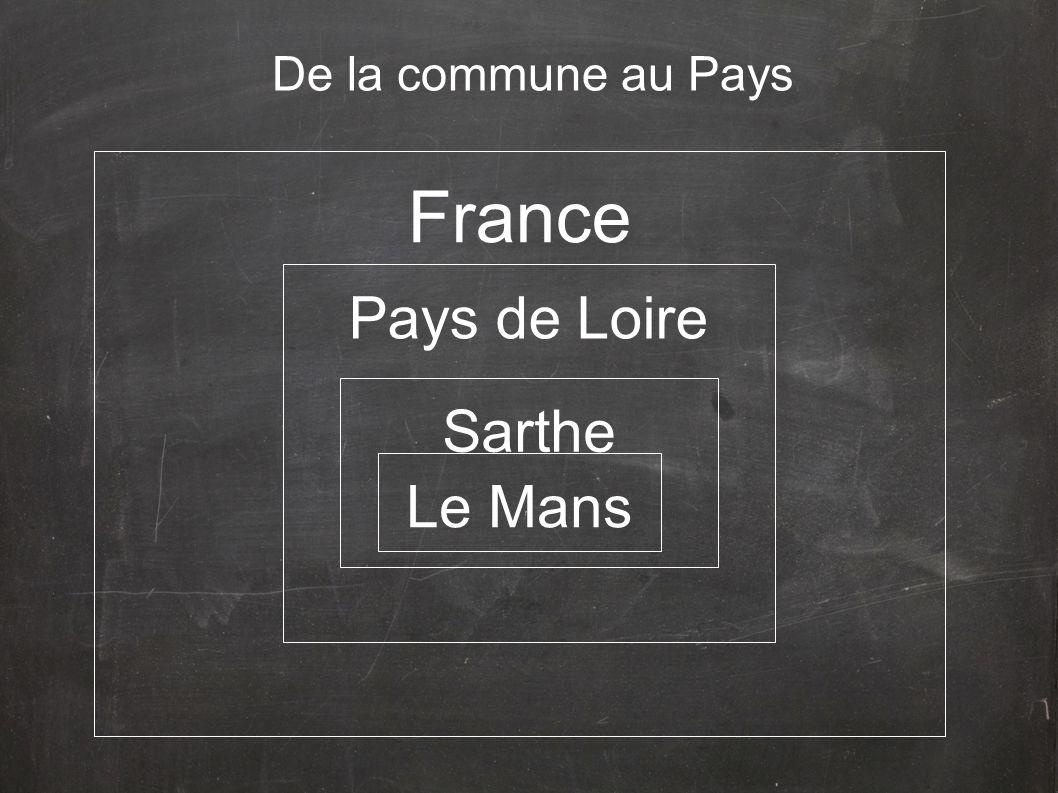 De la commune au Pays Pays de Loire France Sarthe Le Mans