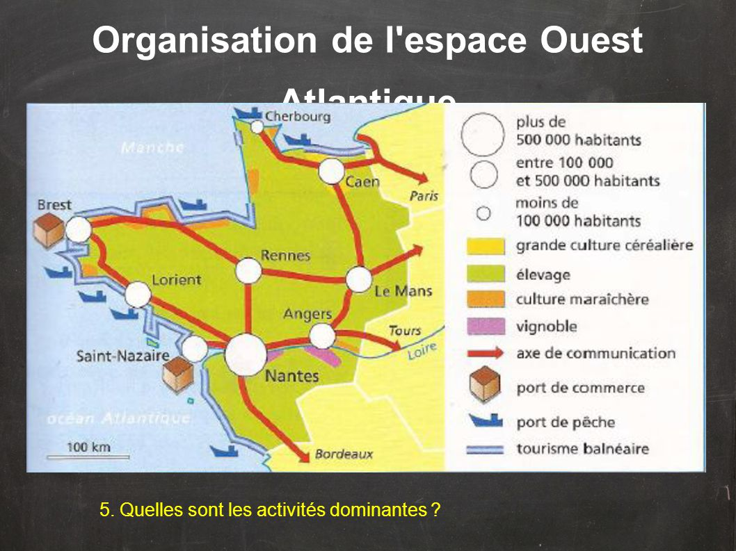 Organisation de l espace Ouest Atlantique 5. Quelles sont les activités dominantes ?