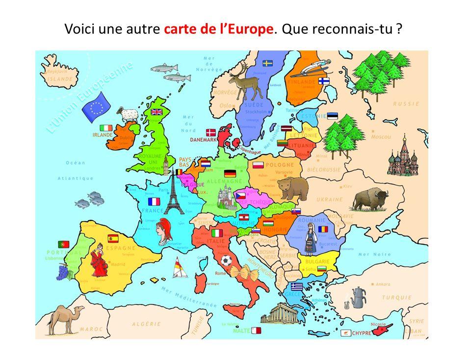 Voici une autre carte de lEurope. Que reconnais-tu ?