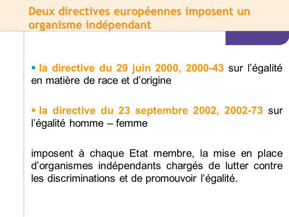 La HALDE a été instituée par la loi du 30 décembre 2004 La Halde est une autorité administrative indépendante (art.