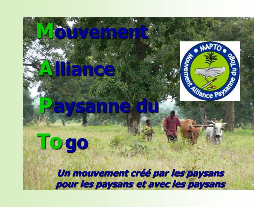 Un mouvement créé par les paysans pour les paysans et avec les paysans ouvement ouvement M A A A A P P P P lliance lliance aysanne du go To