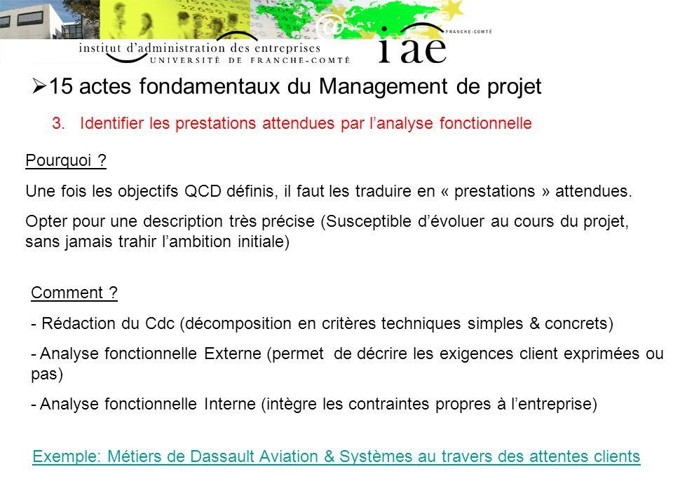 15 actes fondamentaux du Management de projet 3.