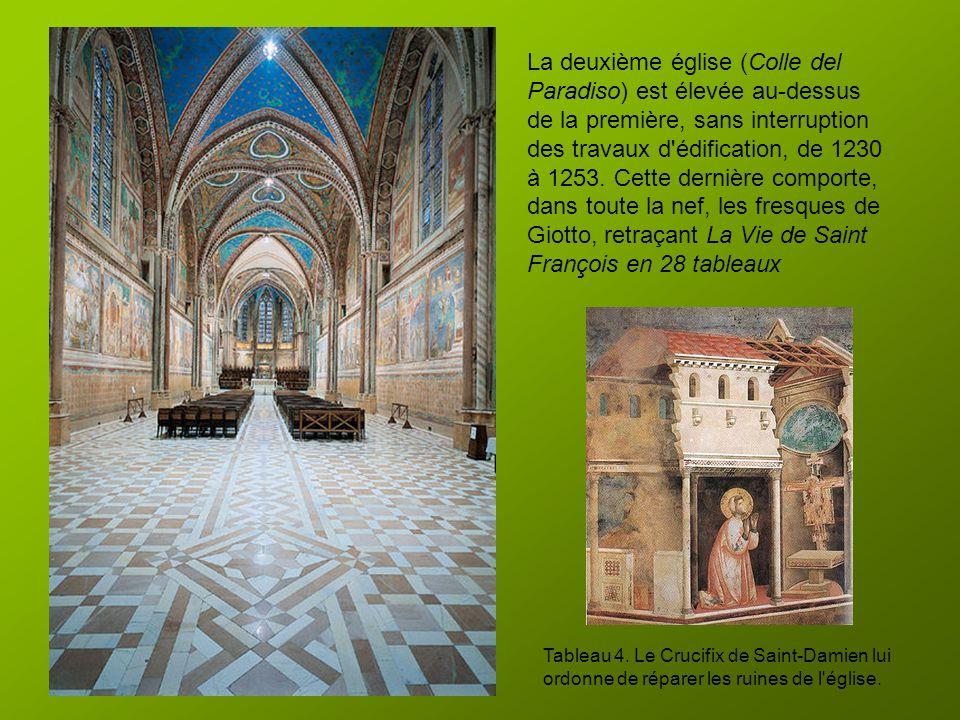 En 1228, Grégoire IX est à Assise et procède à la canonisation de Saint François en l'église Saint-Georges, où repose son corps. À la demande du Pape,