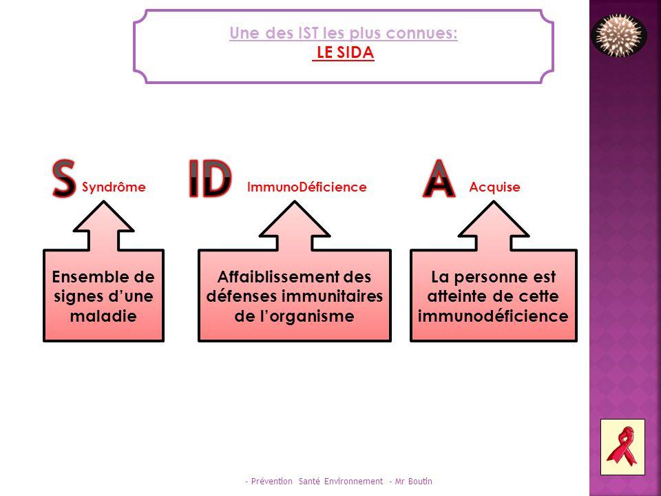 - Prévention Santé Environnement - Mr Boutin 2 LE SIDA AUJOURDHUI En 2009, ce sont 2,5 millions de personnes qui ont été infectées par le VIH dans le monde.