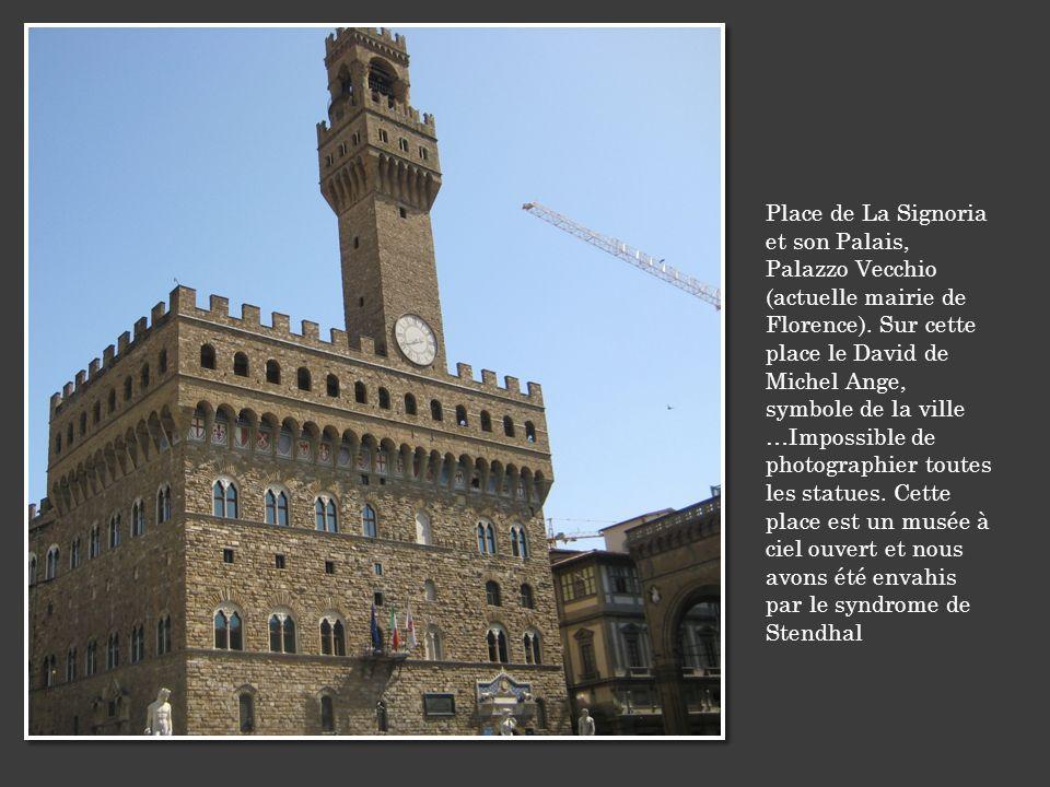 Place de La Signoria et son Palais, Palazzo Vecchio (actuelle mairie de Florence).