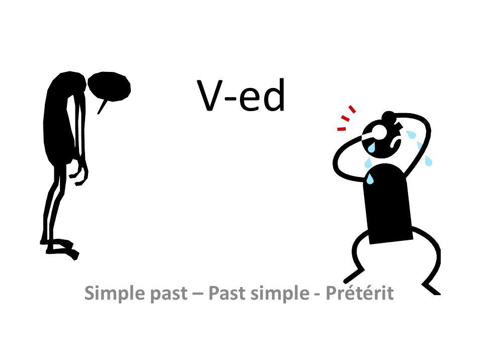 V-ed Simple past – Past simple - Prétérit