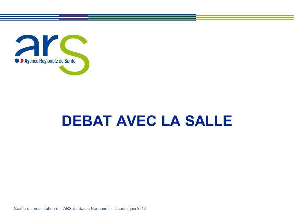Soirée de présentation de lARS de Basse-Normandie – Jeudi 3 juin 2010 DEBAT AVEC LA SALLE