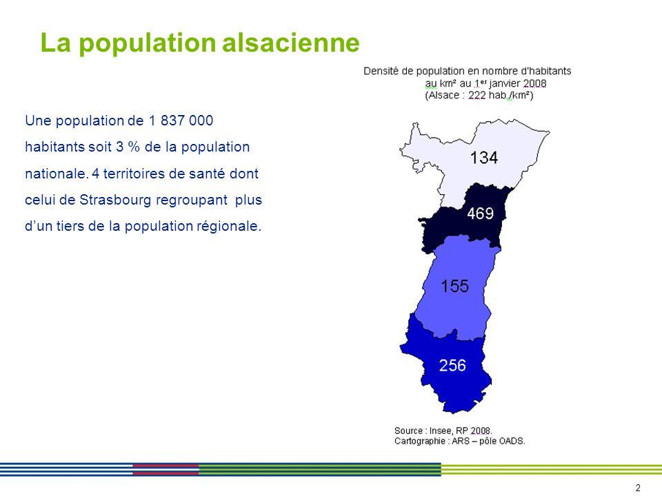 Plus de personnes âgées dans les ZP de Saverne et Colmar Une population plus jeune que celle du territoire national 3