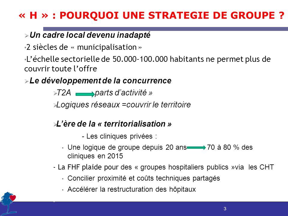 3 « H » : POURQUOI UNE STRATEGIE DE GROUPE .