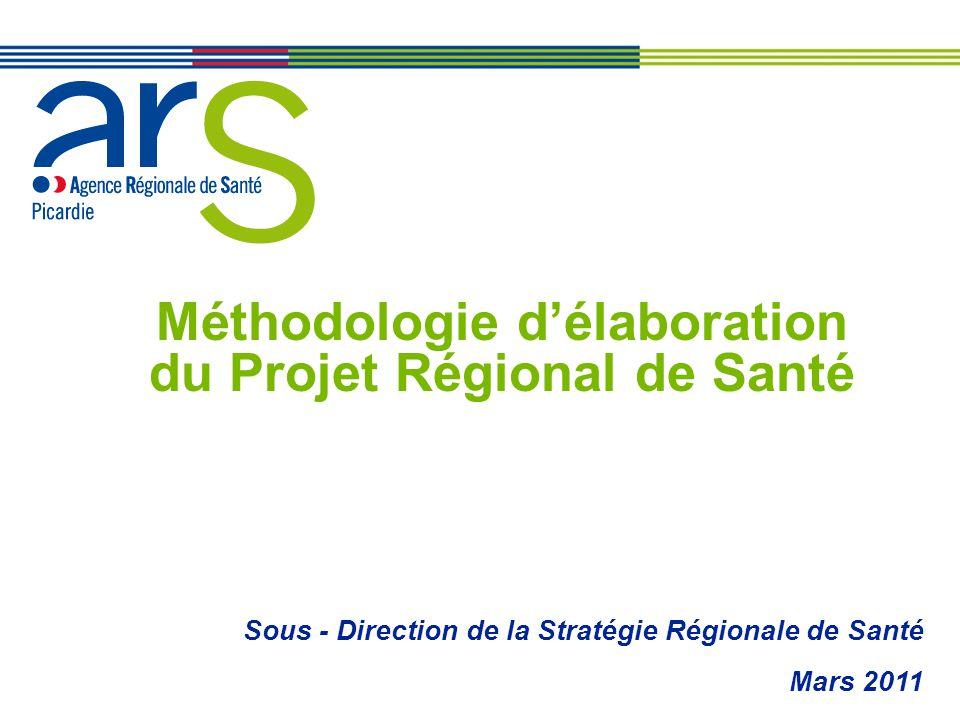 Méthodologie délaboration du Projet Régional de Santé Sous - Direction de la Stratégie Régionale de Santé Mars 2011