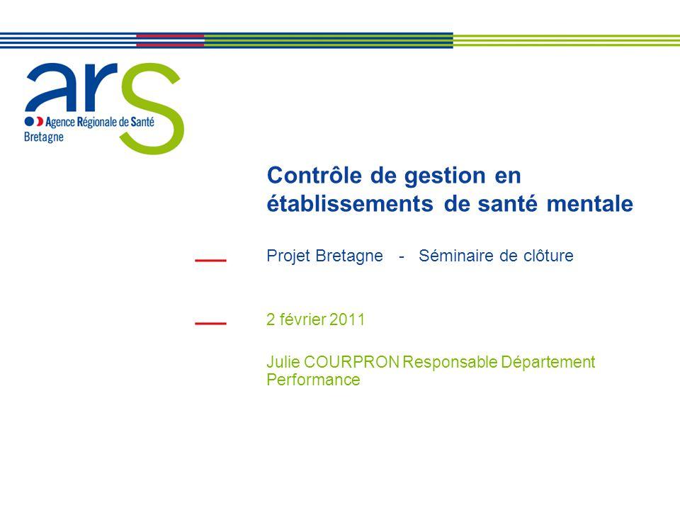 Contrôle de gestion en établissements de santé mentale Projet Bretagne - Séminaire de clôture 2 février 2011 Julie COURPRON Responsable Département Pe