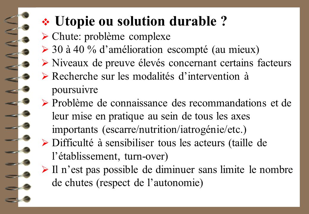 Utopie ou solution durable .