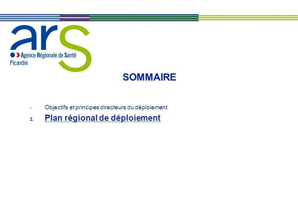 SOMMAIRE 1. Objectifs et principes directeurs du déploiement 2. Plan régional de déploiement