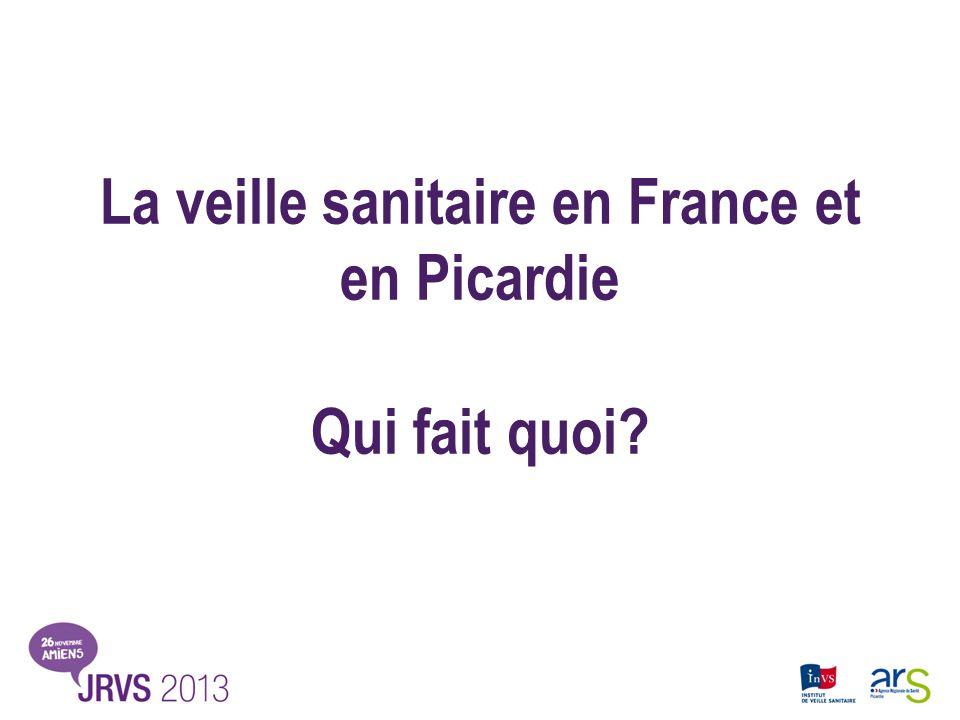 La veille sanitaire en France et en Picardie Qui fait quoi?