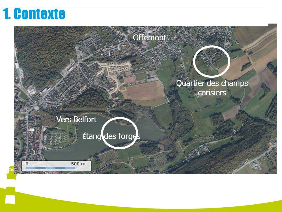 É tang des forges Vers Belfort Offemont Quartier des champs cerisiers 1. Contexte