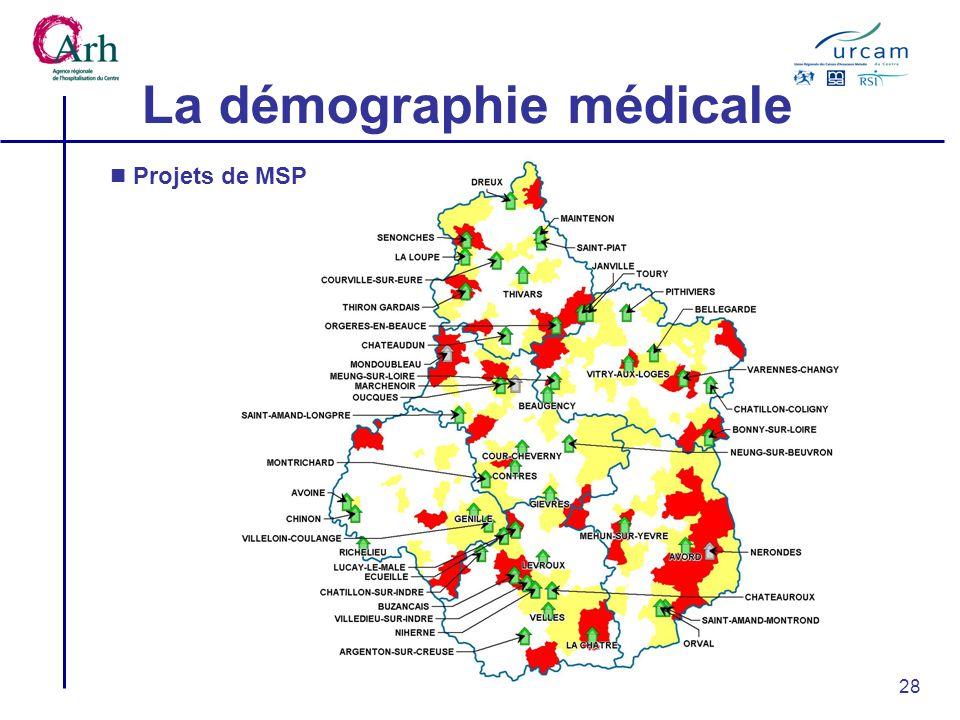 28 La démographie médicale Projets de MSP